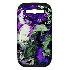 Background Abstract With Green And Purple Hues Samsung Galaxy S Iii Hardshell Case (pc+silicone) by Simbadda