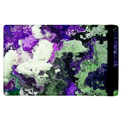 Background Abstract With Green And Purple Hues Apple Ipad 2 Flip Case