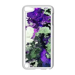 Background Abstract With Green And Purple Hues Apple Ipod Touch 5 Case (white) by Simbadda