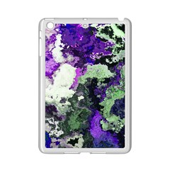 Background Abstract With Green And Purple Hues Ipad Mini 2 Enamel Coated Cases by Simbadda