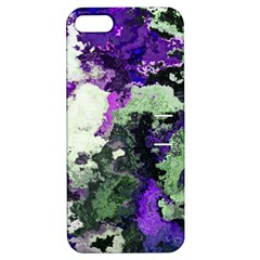 Background Abstract With Green And Purple Hues Apple Iphone 5 Hardshell Case With Stand by Simbadda