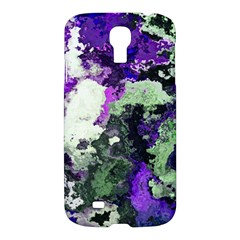 Background Abstract With Green And Purple Hues Samsung Galaxy S4 I9500/i9505 Hardshell Case by Simbadda