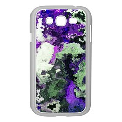 Background Abstract With Green And Purple Hues Samsung Galaxy Grand Duos I9082 Case (white) by Simbadda
