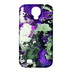 Background Abstract With Green And Purple Hues Samsung Galaxy S4 Classic Hardshell Case (pc+silicone) by Simbadda
