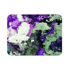 Background Abstract With Green And Purple Hues Double Sided Flano Blanket (mini)