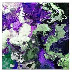 Background Abstract With Green And Purple Hues Large Satin Scarf (square)
