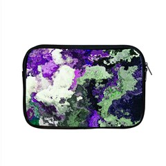 Background Abstract With Green And Purple Hues Apple Macbook Pro 15  Zipper Case by Simbadda