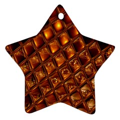 Caramel Honeycomb An Abstract Image Ornament (star) by Simbadda