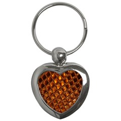 Caramel Honeycomb An Abstract Image Key Chains (heart)  by Simbadda