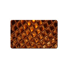 Caramel Honeycomb An Abstract Image Magnet (name Card)