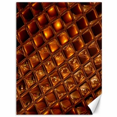 Caramel Honeycomb An Abstract Image Canvas 36  X 48   by Simbadda