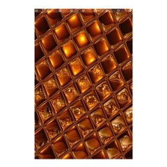 Caramel Honeycomb An Abstract Image Shower Curtain 48  X 72  (small)  by Simbadda