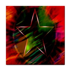 Colorful Background Star Tile Coasters by Simbadda
