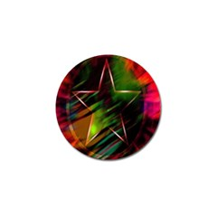 Colorful Background Star Golf Ball Marker (4 Pack) by Simbadda