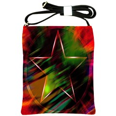 Colorful Background Star Shoulder Sling Bags by Simbadda