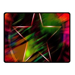 Colorful Background Star Fleece Blanket (small) by Simbadda