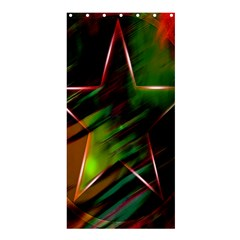Colorful Background Star Shower Curtain 36  X 72  (stall)  by Simbadda