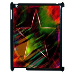 Colorful Background Star Apple Ipad 2 Case (black) by Simbadda