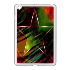 Colorful Background Star Apple Ipad Mini Case (white) by Simbadda
