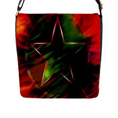 Colorful Background Star Flap Messenger Bag (l)  by Simbadda
