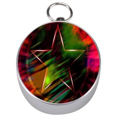 Colorful Background Star Silver Compasses by Simbadda
