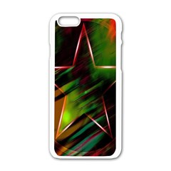 Colorful Background Star Apple Iphone 6/6s White Enamel Case by Simbadda