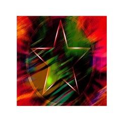 Colorful Background Star Small Satin Scarf (square) by Simbadda