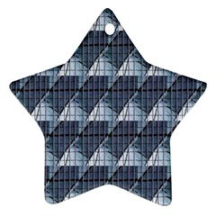 Snow Peak Abstract Blue Wallpaper Ornament (star)