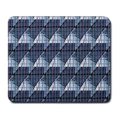 Snow Peak Abstract Blue Wallpaper Large Mousepads