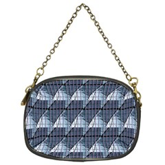 Snow Peak Abstract Blue Wallpaper Chain Purses (one Side)  by Simbadda