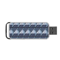 Snow Peak Abstract Blue Wallpaper Portable Usb Flash (two Sides)