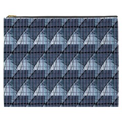 Snow Peak Abstract Blue Wallpaper Cosmetic Bag (xxxl)  by Simbadda
