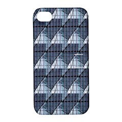 Snow Peak Abstract Blue Wallpaper Apple Iphone 4/4s Hardshell Case With Stand by Simbadda