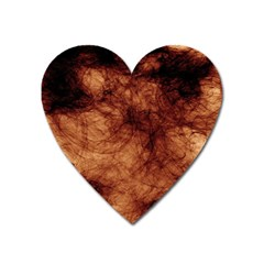 Abstract Brown Smoke Heart Magnet by Simbadda