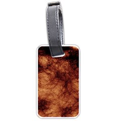 Abstract Brown Smoke Luggage Tags (two Sides)