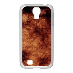 Abstract Brown Smoke Samsung Galaxy S4 I9500/ I9505 Case (white)