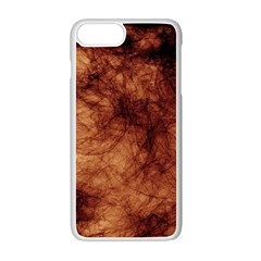 Abstract Brown Smoke Apple Iphone 7 Plus White Seamless Case