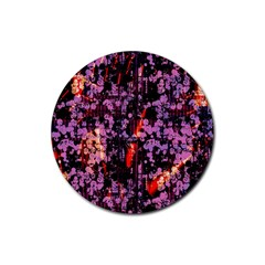 Abstract Painting Digital Graphic Art Rubber Coaster (round)  by Simbadda