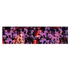 Abstract Painting Digital Graphic Art Satin Scarf (oblong)