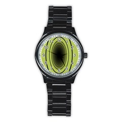Spiral Tunnel Abstract Background Pattern Stainless Steel Round Watch by Simbadda