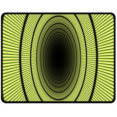 Spiral Tunnel Abstract Background Pattern Double Sided Fleece Blanket (medium)  by Simbadda