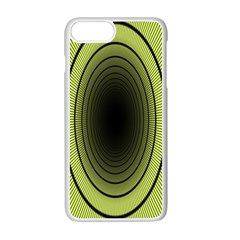 Spiral Tunnel Abstract Background Pattern Apple Iphone 7 Plus White Seamless Case