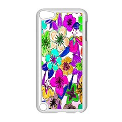 Floral Colorful Background Of Hand Drawn Flowers Apple Ipod Touch 5 Case (white) by Simbadda