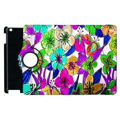 Floral Colorful Background Of Hand Drawn Flowers Apple Ipad 3/4 Flip 360 Case by Simbadda