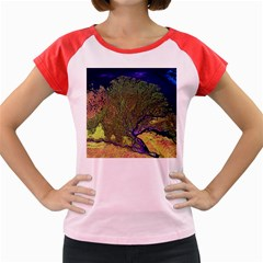 Lena River Delta A Photo Of A Colorful River Delta Taken From A Satellite Women s Cap Sleeve T Shirt by Simbadda