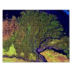 Lena River Delta A Photo Of A Colorful River Delta Taken From A Satellite Rectangular Jigsaw Puzzl