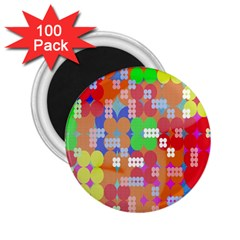 Abstract Polka Dot Pattern Digitally Created Abstract Background Pattern With An Urban Feel 2 25  Magnets (100 Pack)