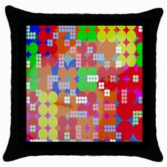 Abstract Polka Dot Pattern Digitally Created Abstract Background Pattern With An Urban Feel Throw Pillow Case (black) by Simbadda