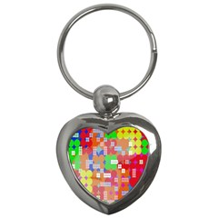 Abstract Polka Dot Pattern Digitally Created Abstract Background Pattern With An Urban Feel Key Chains (heart)
