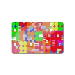 Abstract Polka Dot Pattern Digitally Created Abstract Background Pattern With An Urban Feel Magnet (name Card) by Simbadda